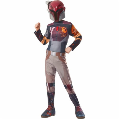 Rubies Costumes 284255 Star Wars Girls Sabine Costume, Small Perspective: front