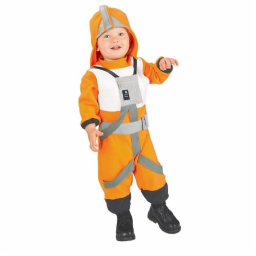 Rubies Costumes 284262 Star Wars Toddler X-Wing Fighter Pilot Costume, Size 2-4T Perspective: front