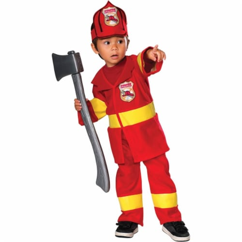 Rubies Costumes 279927 Toddler Jr. Firefighter Costume Perspective: front