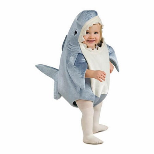 BuySeasons 286827 Toddler Shark Costume, 0-6 Months Perspective: front