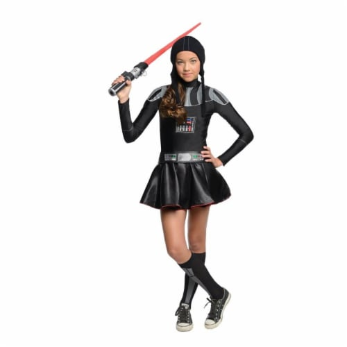 Rubies Costumes 284267 Star Wars Girls Darth Vader Girl Tween Costume, Small Perspective: front
