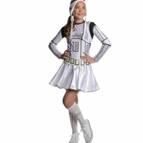 Rubies Costumes 284270 Star Wars Girls Storm Trooper Girl Costume Medium Perspective: front
