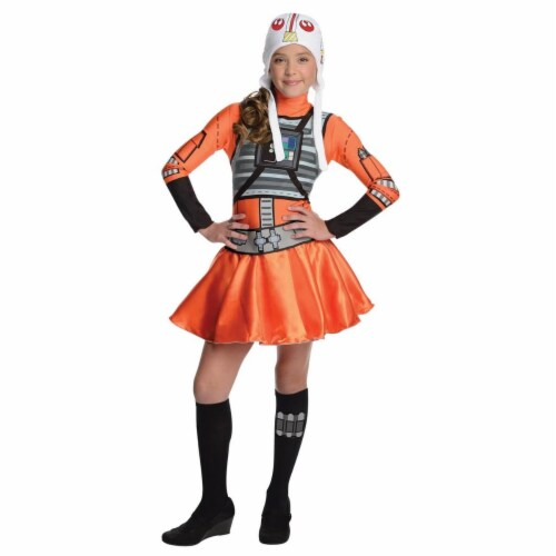 Rubies Costumes 284274 Star Wars Girls X-Wing Fighter Girl Costume, Medium Perspective: front