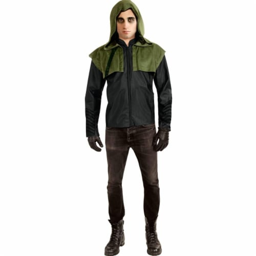 Rubies Costumes 270598 Green Arrow Deluxe Teen Costume, One Size Perspective: front