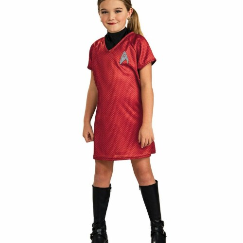 Rubies Costumes 284292 Star Trek Girls Uhura Costume, Small Perspective: front