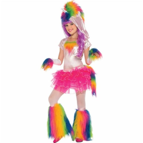 Rubies 406058 Rainbow Unicorn Child Costume - Medium Perspective: front