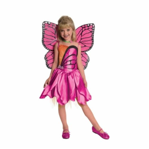 Rubies 218055 Barbie Deluxe Mariposa Toddler-Child Costume, Medium Perspective: front