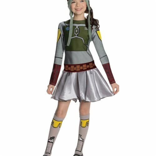 Rubies Costumes 284305 Halloween Star Wars Girls Boba Fett Costume - Medium Perspective: front