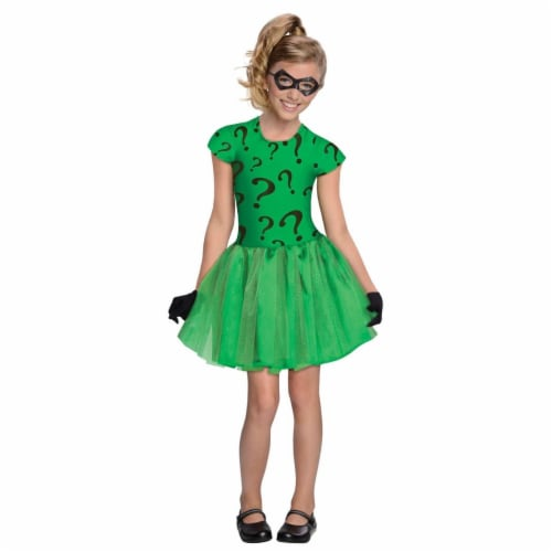 Rubies Costumes 279933 Halloween Girls Riddler Tutu Dress Costume - Small Perspective: front