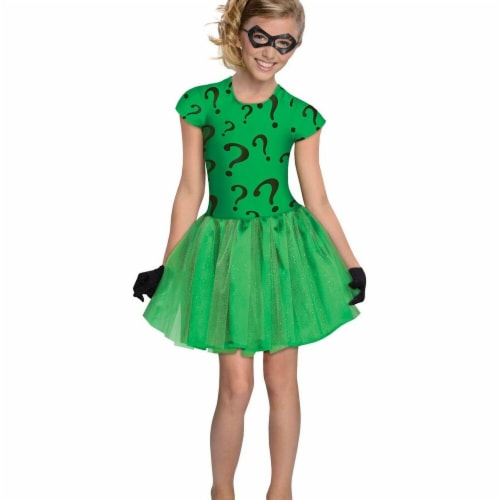 Rubies Costumes 279932 Halloween Girls Riddler Tutu Dress Costume - Medium Perspective: front