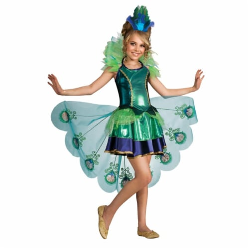 BuySeasons 283600 Peacock Girl Child Costume, Extra Large 14-16 Perspective: front
