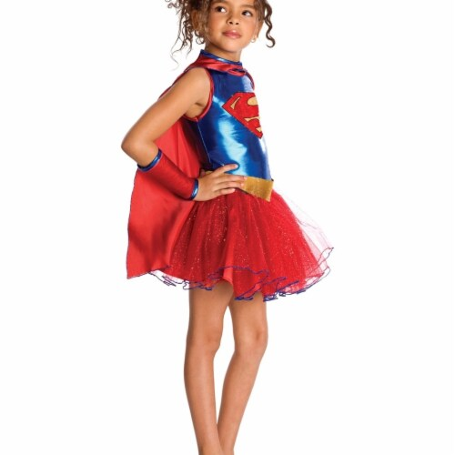BuySeasons 283595 Supergirl Tutu Child Costume, Large Perspective: front