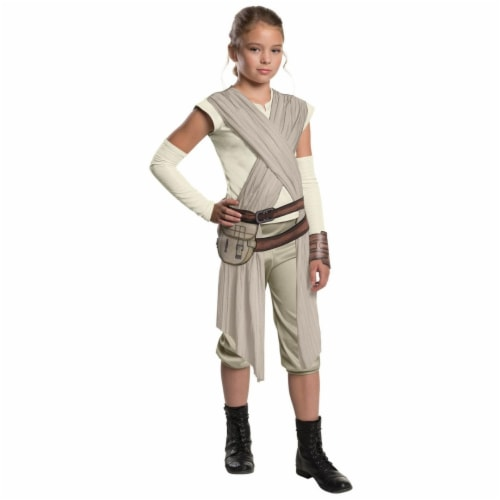 BuySeasons 283609 Star Wars Episode VII - Girls Deluxe Rey Costume, Extra Large Perspective: front