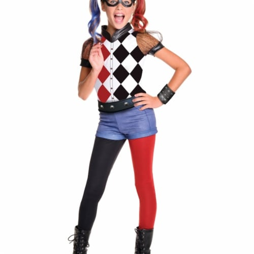 BuySeasons 283617 DC Superhero Girls - Harley Quinn Deluxe Child Costume Perspective: front