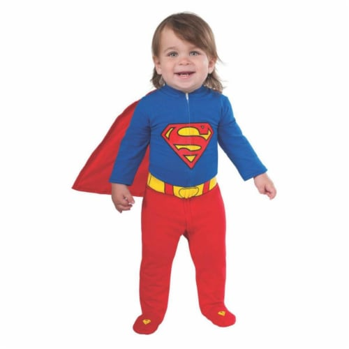 BuySeasons 286843 Infant Superman Romper Costume, 0-6 Months Perspective: front