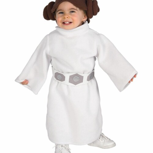Rubies 406090 Star Wars Classic Princess Leia Infant & Toddler Child Costume - Toddler Perspective: front