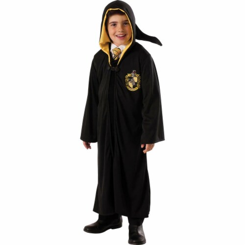 Rubies RU888335MD Harry Potter Deathly Hallows Childs Hufflepuff Robe - Medium Perspective: front