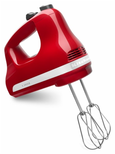 KitchenAid KHM512ER Ultra Power 5-Speed Hand Mixer - Empire Red Perspective: front