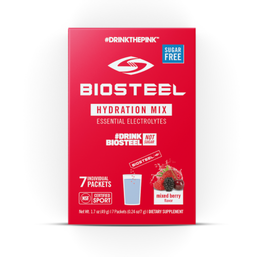 BioSteel Mixed Berry Hydration Mix Packets Perspective: front