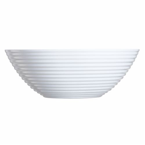 Luminarc Harena Glass White Bowl Perspective: front