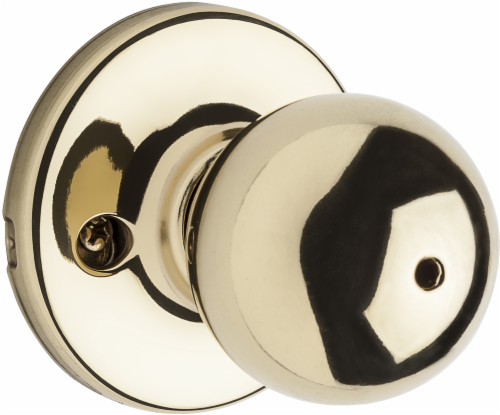 Kwikset Polo Polished Brass Door Knob - Gold Perspective: front