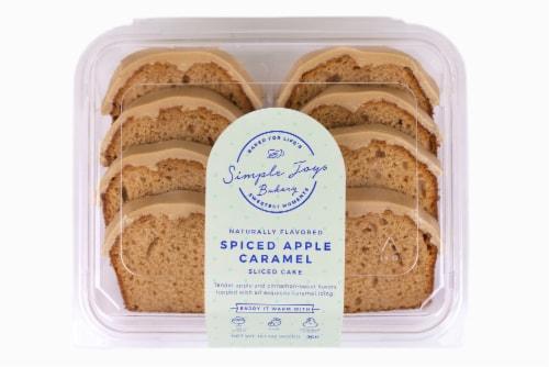 Simple Joys Bakery Spiced Apple Caramel Sliced Cake Perspective: front