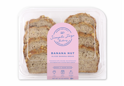 Simple Joys Bakery Banana Nut Sliced Cake Perspective: front