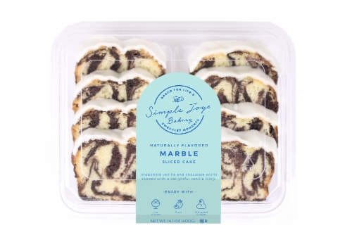 Simple Joys Bakery Iced Marble Sliced Cake Perspective: front