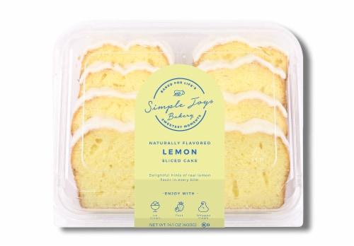 Simple Joys Bakery Iced Lemon Sliced Cake Perspective: front