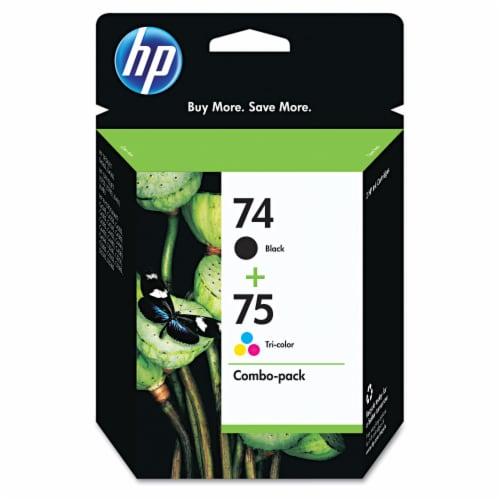 HP 74/75 Original Ink Cartridges - Black/Tri-Color Perspective: front