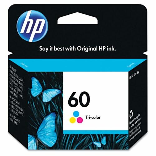HP 60 Original Ink Cartridge - Tri-Color Perspective: front