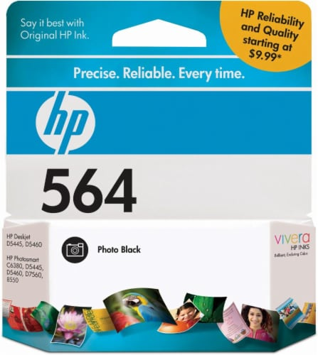 HP 564 Original Ink Cartridge - Black Perspective: front