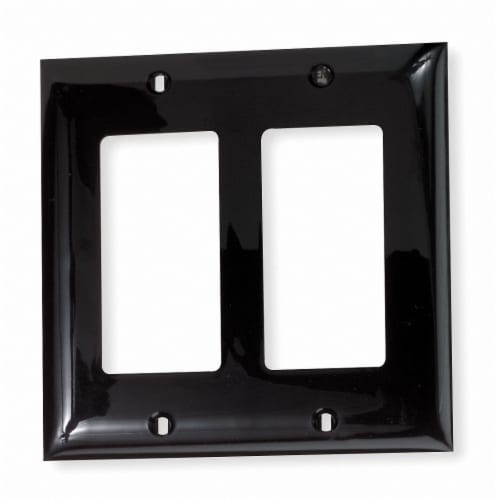 Hubbell Wiring Device-Kellems Rocker Wall Plate,2 Gang,Brown HAWA NP262 Perspective: front
