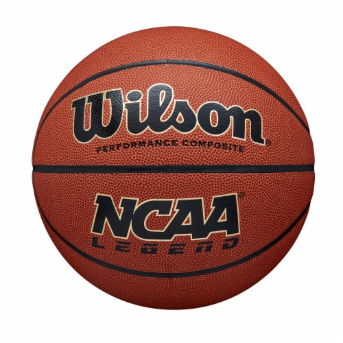 Wilson Sporting Goods NCAA Legend Official Basketball - Orange/Black Perspective: front