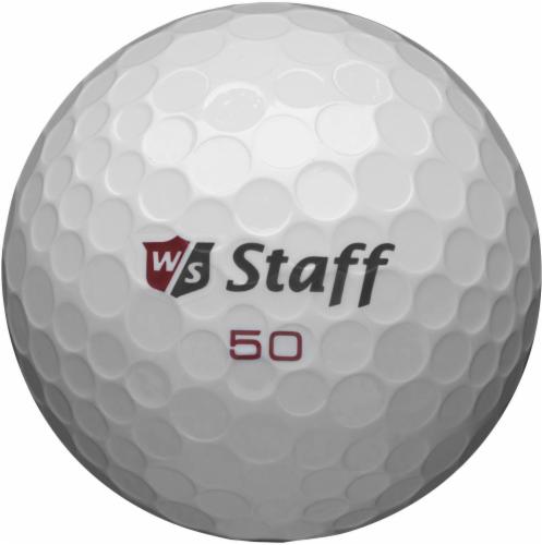 Wilson Staff 50 Elite Golf Balls - White Perspective: front