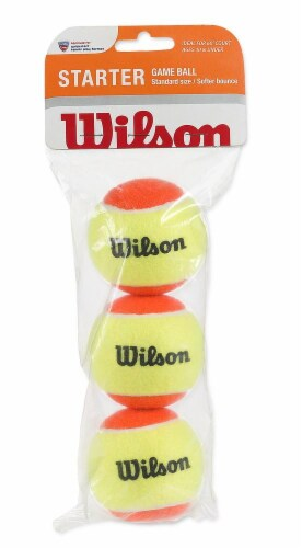 Wilson US Open Starter Red Tennis Balls 3-Pack Perspective: front