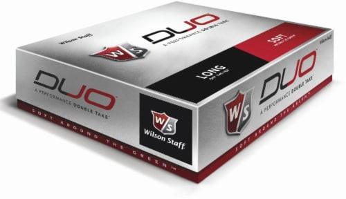 Wilson Staff Duo Golf Balls - 12 Pack - White Perspective: front