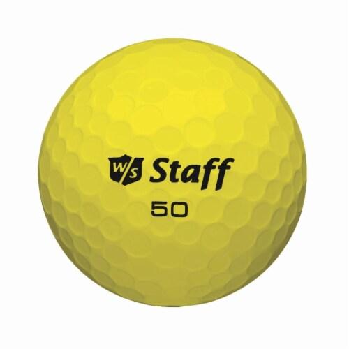 Wilson® Staff 50 Elite Golf Balls - Yellow - 12 Pack Perspective: front