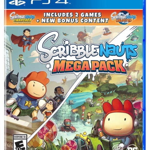 Warner Brothers 1000728794 Scribblenauts Mega Pack Playstation 4 Action & Adventure Game Perspective: front