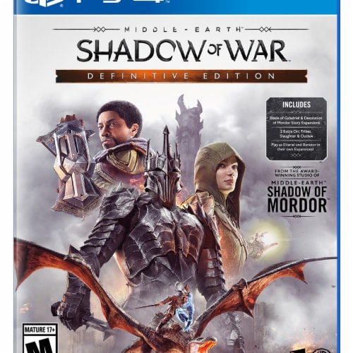 Warner Home Video Games Middle Earth Shadow of War Definitive Edition Video Game Perspective: front