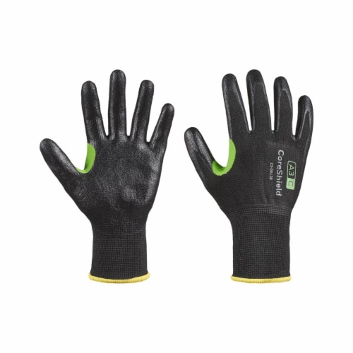 Honeywell 582-23-0913B-9L 13 Gauge A3-C Nitrile Coreshield Glove, Black, Large - Size 9 Perspective: front