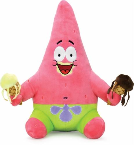 SpongeBob SquarePants Patrick with Ice Cream Hug Me 16  Plush Starfish Star NECA Perspective: front