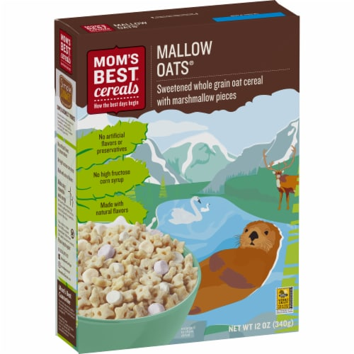 Mom's Best Mallow Oats Cereal Perspective: front