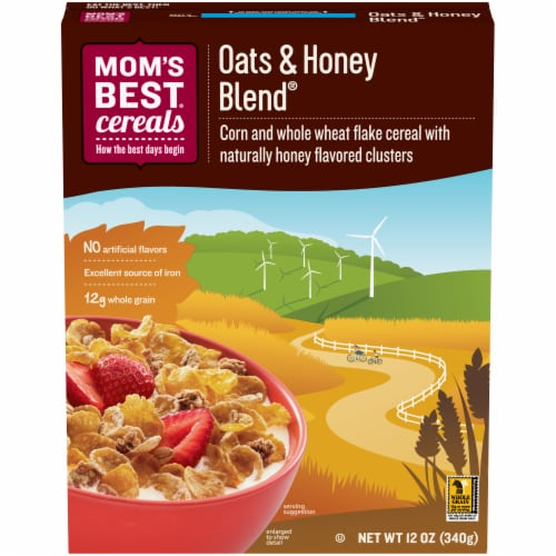 Mom's Best Oats & Honey Blend Cereal Perspective: front