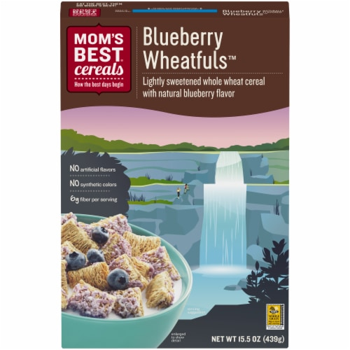 Mom's Best Blueberry Wheatfuls Cereal Perspective: front