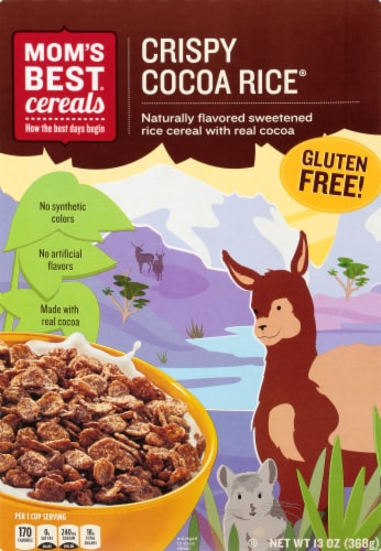 Mom's Best Crispy Cocoa Rice Cereal Perspective: front