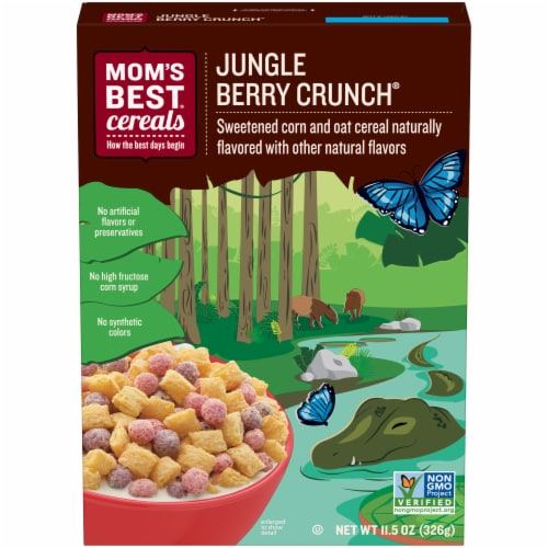 Mom's Best Jungle Berry Crunch Cereal Perspective: front
