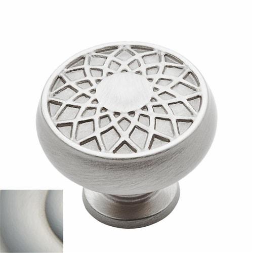Baldwin 4636150 1.27 in. Couture Mushroom Cabinet Knob, Satin Nickel Perspective: front
