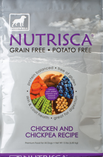 Dogswell Nutrisca Chicken & Chickpea Dog Food Perspective: front