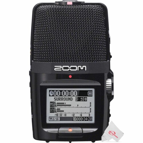 Zoom H2n Ext 2-input / 4 Track Handy Digital Audio Stereo Recorder With 5 Built-in Mic Array Perspective: front